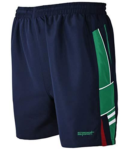 Soltice Shorts, Sporthose Kurz, leichte Jogginghose, Trainingshose, Fitnesshose schnelltrocknend (M bis 3XL) (XL, Navy-Grün)