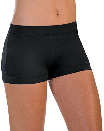 Motionwear Banded-Leg Boy-Cut Shorts, Damen, 7141, schwarz, X-Large Adult