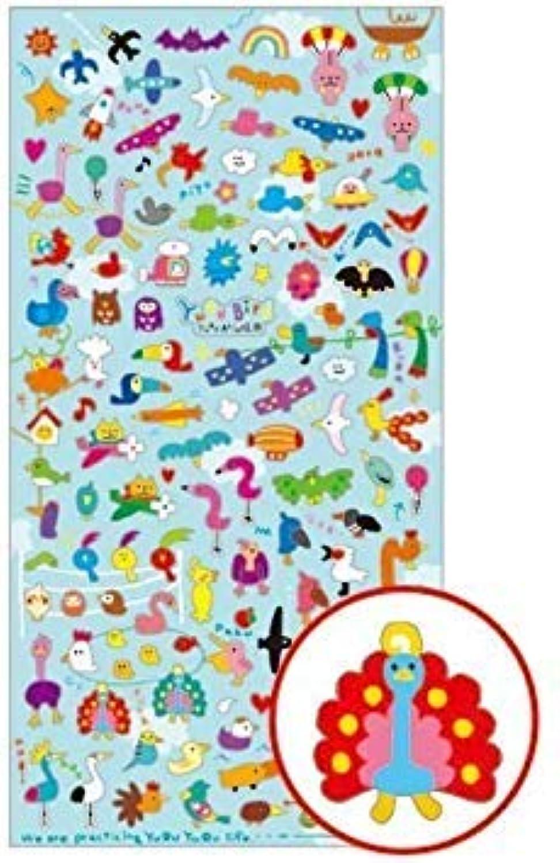 Kawaii Mini Funny Bird Flying Animal Stickers by mind wave