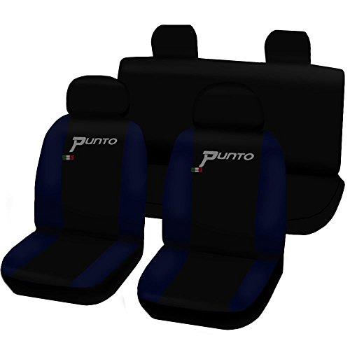 Lupex Shop Punto.Evo_N.BS Coprisedili Fiat Punto Evo Nero-Blu Scuro