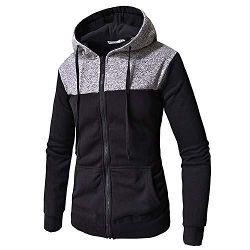 ZY Glaa Mens Hoodie Sweatshirt Sweater Pullover Hooded Fleece Sweatshirt with Kangaroo Pockets Solid Color Hoody Mens Hoodie Hooded Sweatshirt Jumper with Hood with Fleece Lining Dark Gray