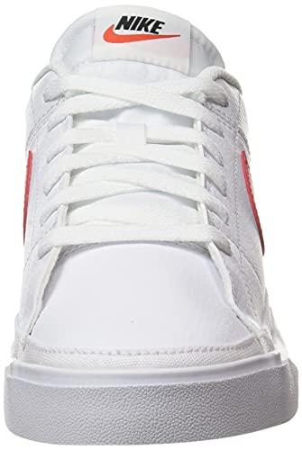 Nike Court Legacy, Zapatillas de Gimnasio Hombre, White/University Red-Black, 45 EU