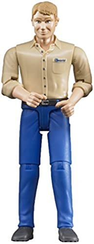 Bruder Toys Bruder Man with Light Skin Blau Jeans Toy Figure by