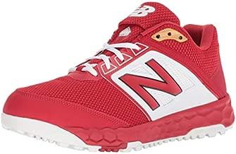 New Balance Men's 3000 V4 Turf Baseball Shoe, red/White, 12.5 2E US