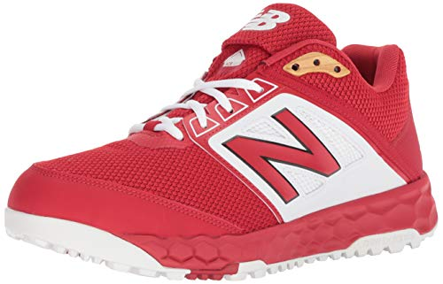 New Balance Men's 3000 V4 Turf Baseball Shoe, Red/White