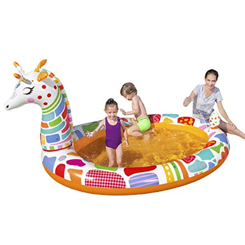 Cowslip Piscina familiar inflable engrosada de jirafa, piscina familiar para niños y adultos, PVC plegable, duradera, piscina familiar hinchable para bebés y niños