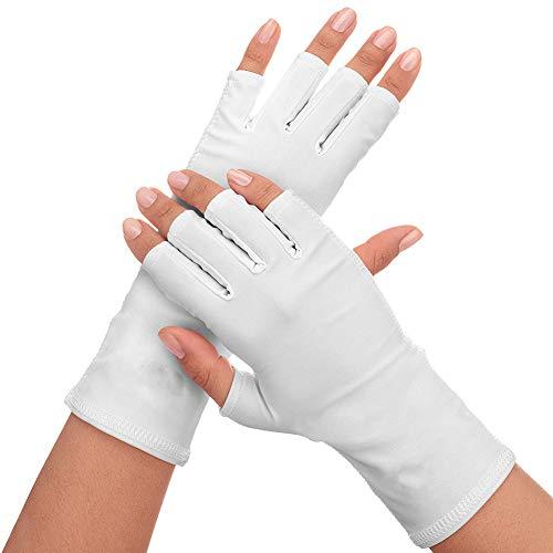 Xiton 1 Paire Gant Anti-UV à Ongles Anti UV Gant Protection Bouclier Protection Conduite Gants Manucure Nail Art SèChe Outils