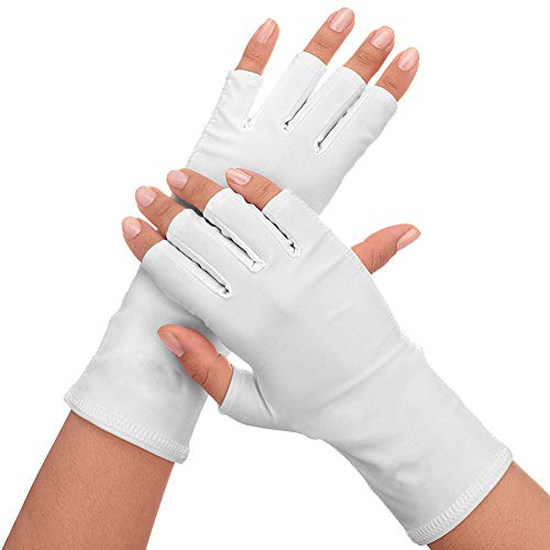 guanti uv Xiton 1Pair Nails UV Shield Glove Anti Uv Glove Sunblock Protezione Shield Guida Guanti Manicure Nail Art Dryer Tools