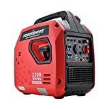 PowerSmart Generator, Super Quiet Generator, 2200 Watts Portable Inverter Generator, Gas Powered Generator, Portable Power Station w/Fuel Shut Off for Outdoor Camping & Home Use, PS5025