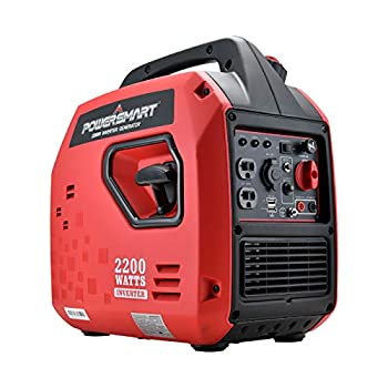 PowerSmart Generator Super Quiet Generator 2200 Watts Portable Inverter Generator Gas Powered Generator Portable Power Station w/Fuel Shut Off for Outdoor Camping & Home Use PS5025