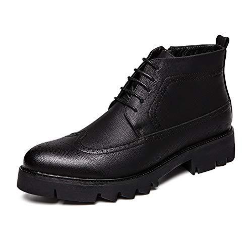 GY-HCJI Nxdj - Botas de tobillo para hombre con cremallera lateral cómoda y alta (color: negro, talla: 41 UE)