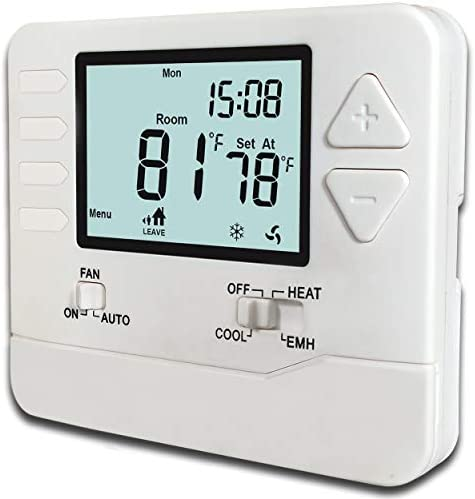 Heagstat H725 5 1 1 Day Programmable Heat Pump Thermostat 2 Heat 1 Cool with 4 5 sq Inch Display product image