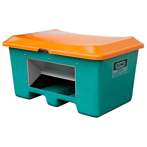 CEMO Streugutbehälter aus GfK - Volumen 400 l, mit Entnahmeöffnung, unterfahrbar, Behälter grün - Kunststoff-Behälter Kunststoff-Behälter Streugutbehälter Streugutbehälter Mehrzweckbehälter