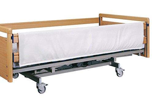 FabaCare Seitengitterpolster für Pflegebett, Polsterung für Seitengitter, hochwertiges Kunstleder mit Schaumstoff, mit Klettverschluss