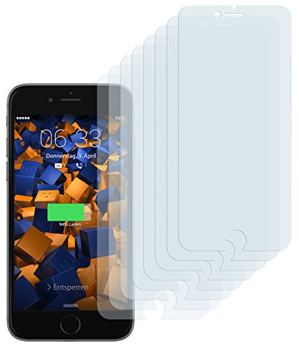 mumbi Schutzfolie kompatibel mit Apple iPhone 7 Plus Folie, iPhone 8 Plus Folie klar, Displayschutzfolie (8X)