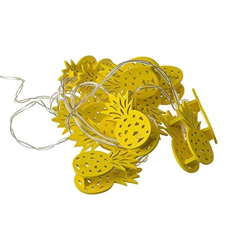 Guirnalda de álamo de piñas 10 luces led exótica amarilla de 175 cm - LOLAhome