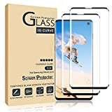 Compatible for Galaxy S10 Screen Protector 2Pack 9H Tempered Glass Compatible With Ultrasonic Fingerprint 3D Curved Glass HD Transparent Without Bubbles Suitable for Galaxy S10 Screen Protector