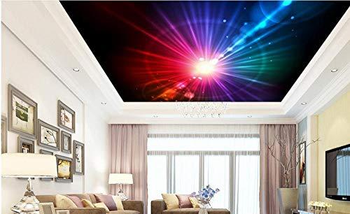 Kleurrijke Mode 3D Plafond Muren Behang Glanzend Behang Op Het Plafond 3D Wandpapiervoor Woonkamer Zelfklevende PVC 300cm(L) x210cm(W)