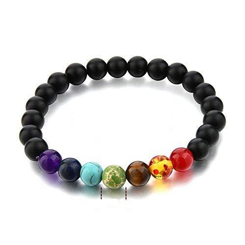 Presentes Sataanreaper Naturales Cristales Semi Precious Gem Beads 7 Pulsera De La Energía De La Buena Suerte Chakra Reiki Positivo. Sr_123