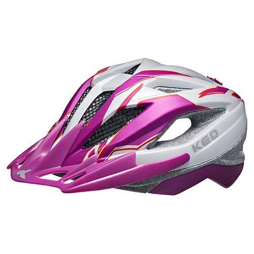 K-E-D Fahrradhelm Street Junior Pro Allround-Helm in robuster maxSHELL- Technologie, Quicksafe- und Quickstopp-System. (S (Kopfumfang 49-55 cm), Violet Pearl Matt)