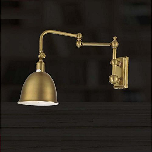 NIHE De style européen avant chambre lampes miroir en fer forgé den salon hôtel de la lampe murale à bascule