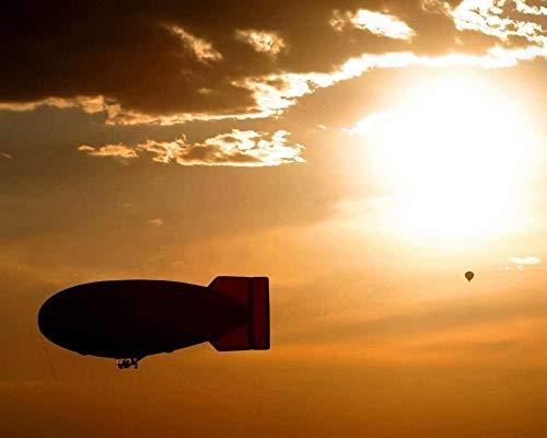 JFZJFZ DIY ÖlgemäldeFarbe nach Anzahl Kits für Erwachsene - Luftballon Himmel Flughöhe 16X20 Zoll Malerei Leinwandfarbe