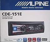 Alpine CDE-151E Single DIN CD USB AUX iPod Controller Car Stereo Receiver