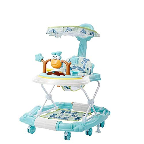 Baby Walker Interactive Walker Baby Trolley Jumping Board and Feeding Tray, Baby Activity Walker With Toy Tray and Jumping Board