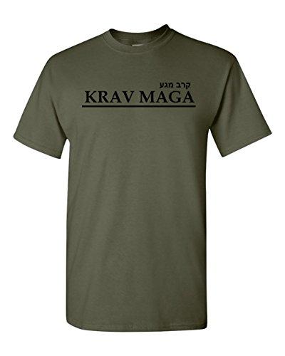 Got-Tee- Krav MAGA Israeli Martial Art Combat T-Shirt (Medium, Olive Green)