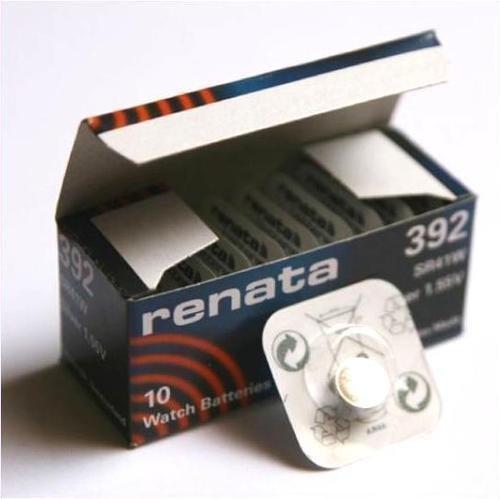 Renata SR41W - 10 x batterie al litio, a bottone, 392