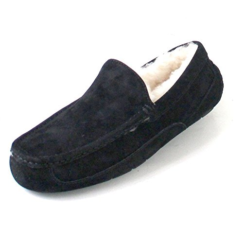 UGG Male Ascot Slipper, Black, 13 (UK)