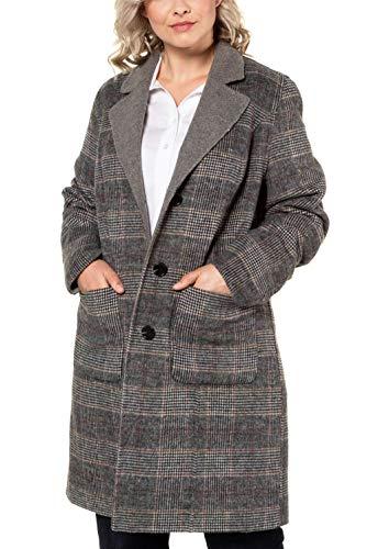Ulla Popken Damen Wendemantel Mantel, Gelb (Grau 11), (Herstellergröße: 50+)