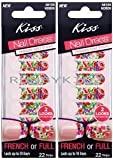 (Pack 2) New Kiss Nail Dress Fashion That Sticks French or Full - 58109 Retro