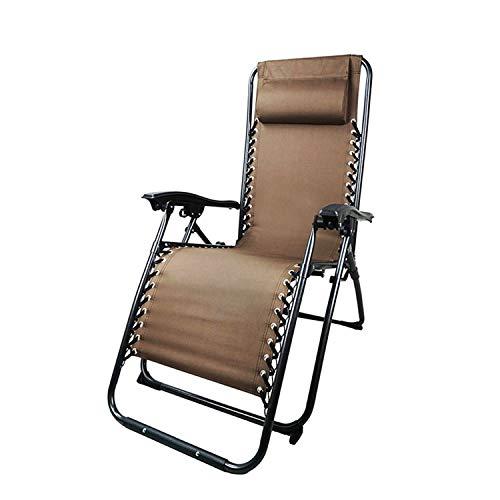 Ligstoelen Ligstoelen Zero Gravity Patio Ligstoel Liggende Tuinstoel Buiten Opklapbare Draagbare Schommelstoel Met Kussen Bruin