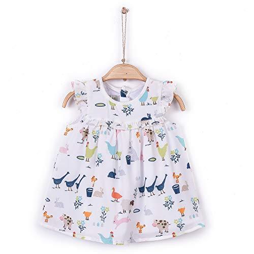 Sevira Kids - Robe bébé/enfant en crêpe - légère et fluide - de 3 mois à 2 ans - Zoé