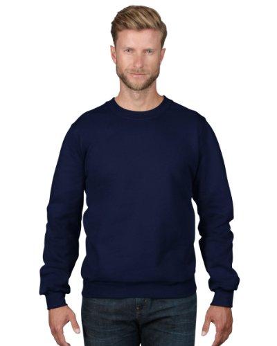 Anvil - Sweat-Shirt - Col Ras Du Cou - Manches Longues Homme - Bleu - Blau (Nav-Navy) - FR : X-Large (Taille Fabricant : XL) (Brand size : XL)