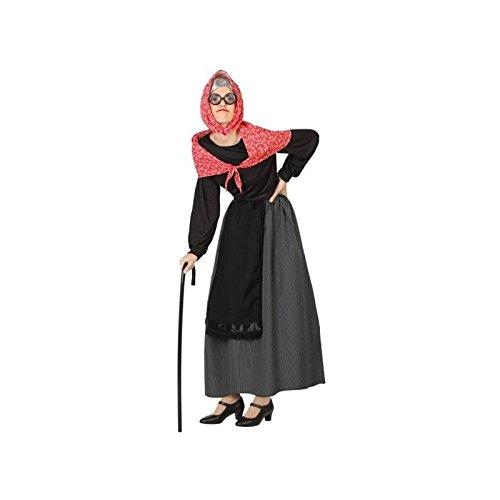 Atosa-26898 Disfraz Vieja Mujer Adulto-Talla, color negro, XS-S (26898)
