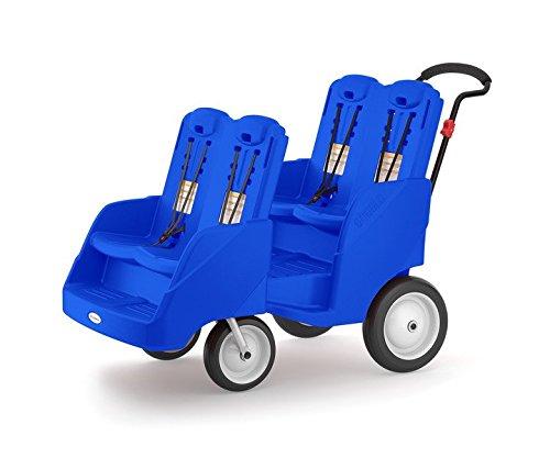 Foundations Gaggle 4 Multi-Passenger Buggy Stroller, Blue