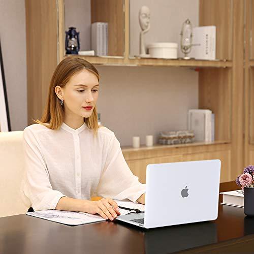 MOSISO Hülle Kompatibel mit 2020 2019 2018 MacBook Air 13 Zoll A2337 M1 A2179 A1932 Retina Display, Plastik Hartschale & Tastaturschutz & Displayschutz Nur Kompatibel mit MacBook Air 13 Zoll,Frost