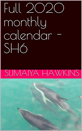 Full 2020 monthly calendar - SH6 (English Edition)
