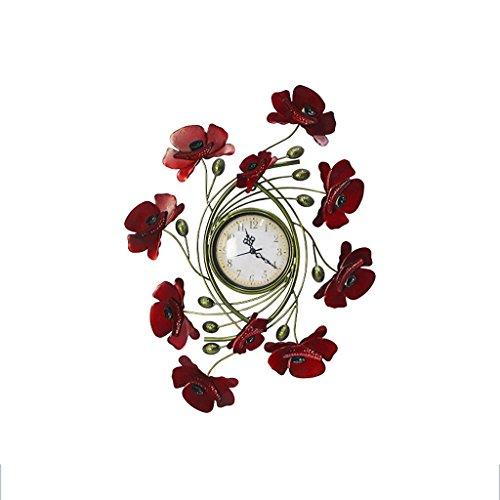 MEILING Européenne Décoration Murale Fer Art Mural Tenture Murale En Trois Dimensions Papillon Horloge Cadre Photo Mural Creative Décorations pour La Maison