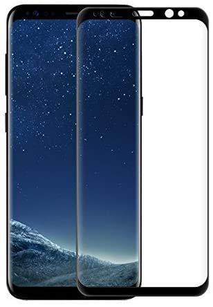 [3 Stück] Panzerglas Schutzfolie Kompatibel für Samsung Galaxy S8, 3D Full Cover Panzerglasfolie für Galaxy S8, Anti-Kratzer, Anti-Fingerabdruck, 9H Härte, Displayschutzfolie für Galaxy S8 – Schwarz