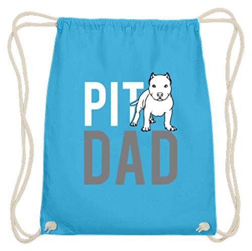 Pit Dad - grappig en eenvoudig design - katoenen gymzak