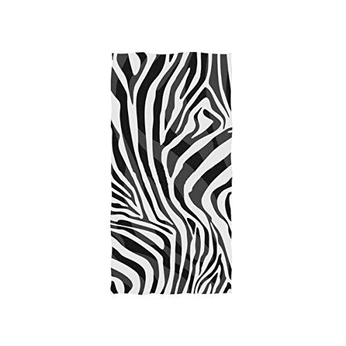 Linomo Toalla de mano Animal Zebra Print Toalla de algodón toalla de la cara para niños niñas niños adultos