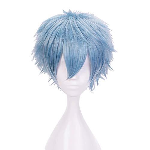 My Hero Academia Cosplay,bokunoheroacademia Peluca Shigaraki Tomura-gris Azul