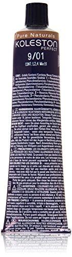 Koleston Coloration capillaire 60 ml, 9/01 - Pure Naturals - Blond cendré lumineux et naturel