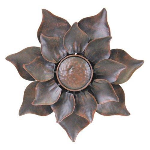 Exhart Environmental Systems 91100 Bronze Metal Kinetic Flower