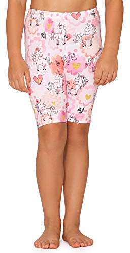 Merry Style Leggins Mallas Pantalones Corto Ropa Deportiva Niña MS10-406(Blanco/Unicornio,140)