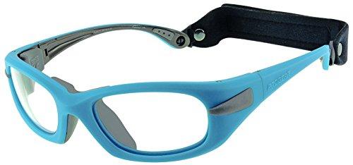 Progear Eyeguard Gafas Progear para el deporte con patillas. Alta protección certificada EN 166/ASTMF803 una protección perfecta en deportes de riesgo de impacto (neón azul, grande (55))