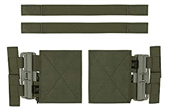 KRYDEX Quick Release Buckle Set,Single Point Molle Quick Disconnect Side Entry Conversion with Hoop and Loop for JPC CPC NCP XPC 420 Vest  Ranger Green